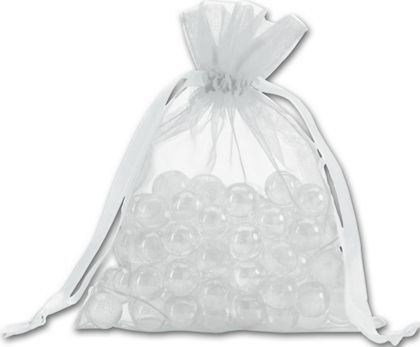 """Silver Organdy Bags, 5 x 6 1/2"""""""