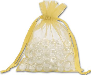 Gold Organdy Bags, 5 x 6 1/2