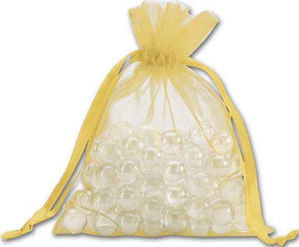 "Gold Organdy Bags, 5 x 6 1/2"""