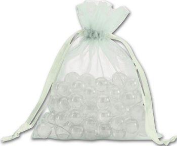 Seafoam Organdy Bags, 5 x 6 1/2