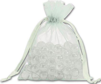 """Seafoam Organdy Bags, 5 x 6 1/2"""""""