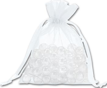 White Organdy Bags, 5 x 6 1/2