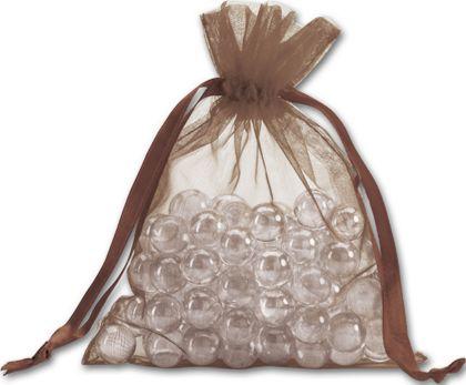 """Brown Organdy Bags, 5 x 6 1/2"""""""