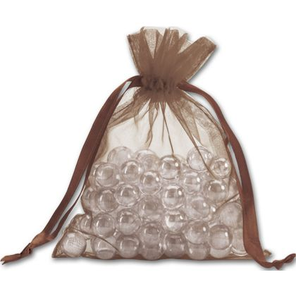 Brown Organdy Bags, 5 x 6 1/2""