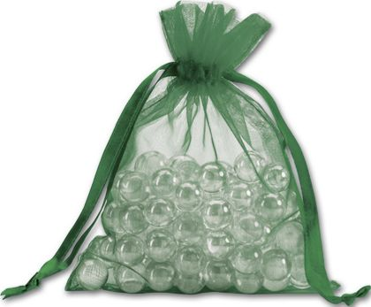 "Green Organdy Bags, 5 x 6 1/2"""