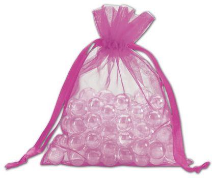 """Fuchsia Organdy Bags, 5 x 6 1/2"""""""