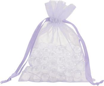 Lavender Organdy Bags, 5 x 6 1/2