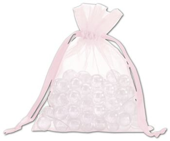 Light Pink Organdy Bags, 5 x 6 1/2