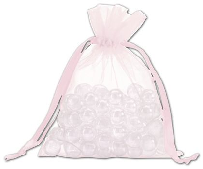 Light Pink Organdy Bags, 5 x 6 1/2""