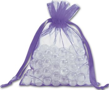 Purple Organdy Bags, 5 x 6 1/2