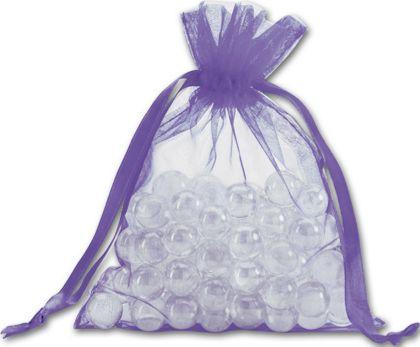 "Purple Organdy Bags, 5 x 6 1/2"""