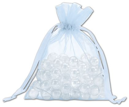 Light Blue Organdy Bags, 5 x 6 1/2""