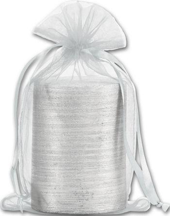 Silver Organdy Bags, 5 1/2 x 9