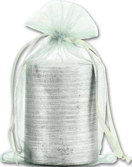 """Seafoam Organdy Bags, 5 1/2 x 9"""""""