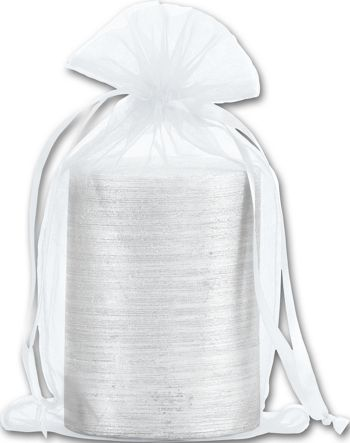 White Organdy Bags, 5 1/2 x 9