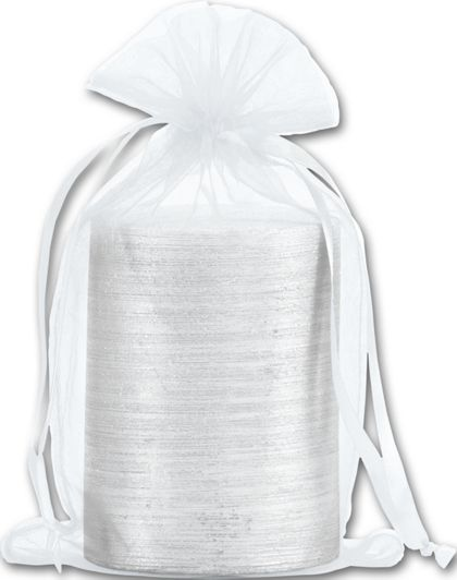 "White Organdy Bags, 5 1/2 x 9"""