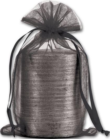 "Black Organdy Bags, 5 1/2 x 9"""