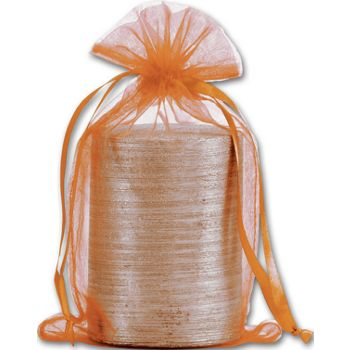 Orange Organdy Bags, 5 1/2 x 9