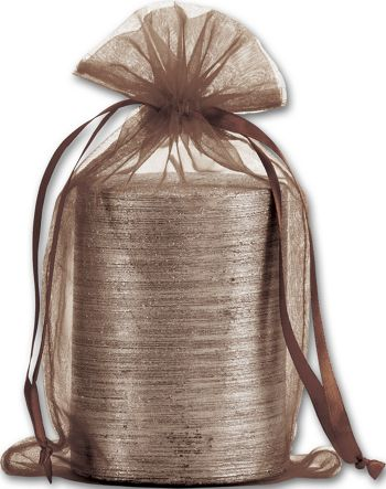 Brown Organdy Bags, 5 1/2 x 9