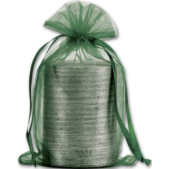 Green Organdy Bags, 5 1/2 x 9