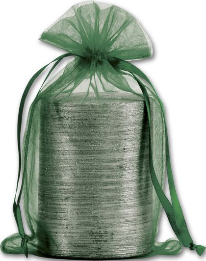 "Green Organdy Bags, 5 1/2 x 9"""