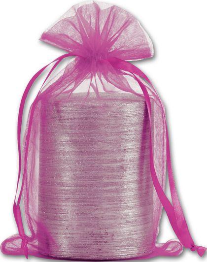 """Fuchsia Organdy Bags, 5 1/2 x 9"""""""