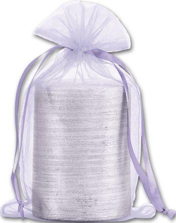 Lavender Organdy Bags, 5 1/2 x 9