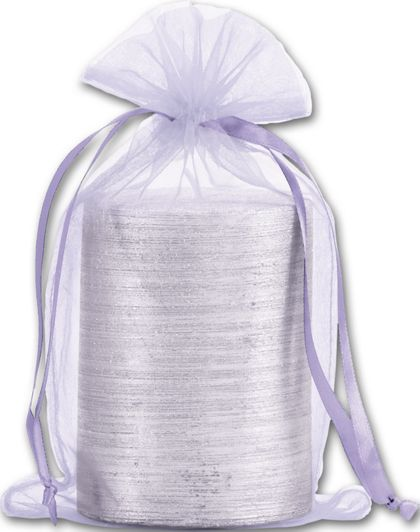 "Lavender Organdy Bags, 5 1/2 x 9"""