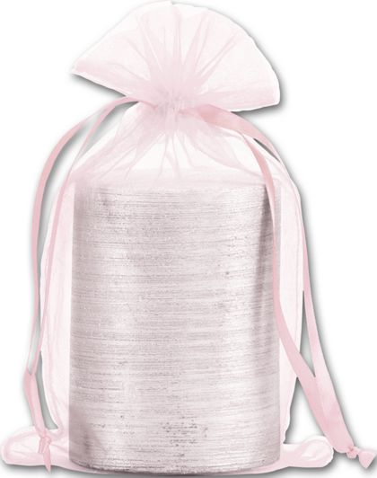 Light Pink Organdy Bags, 5 1/2 x 9""