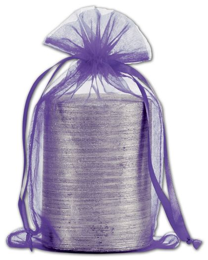 Purple Organdy Bags, 5 1/2 x 9""