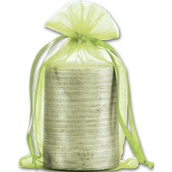 Lime Organdy Bags, 5 1/2 x 9