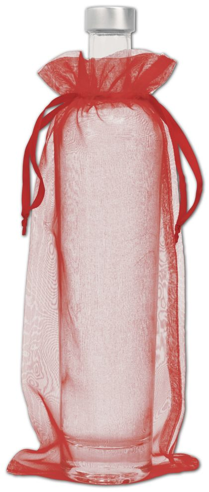 """Red Organdy Bags, 6 x 13"""""""
