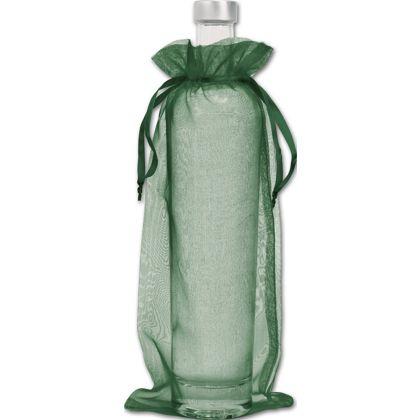 "Green Organdy Bags, 6 x 13"""