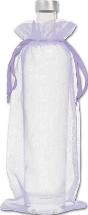 Lavender Organdy Bags, 6 x 13