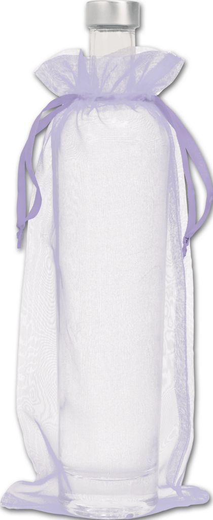 "Lavender Organdy Bags, 6 x 13"""