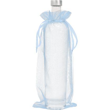 "Light Blue Organdy Bags, 6 x 13"""