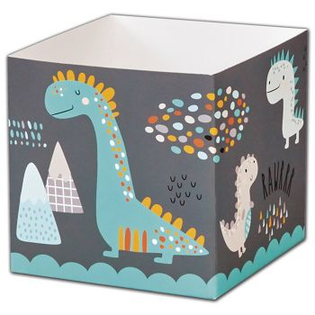 Dinosaurs Party Favor Gift Boxes, 3 3/4 x 3 3/4 x 3 3/4