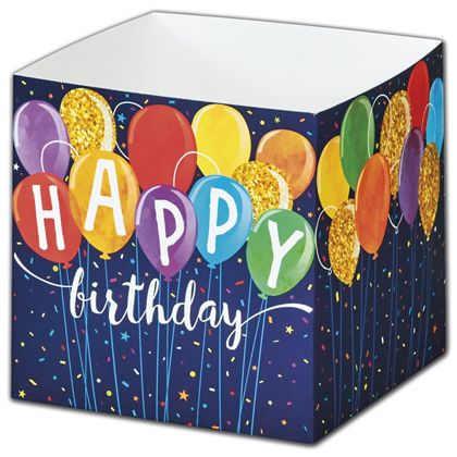Happy Birthday Balloons Party Favor Gift Boxes