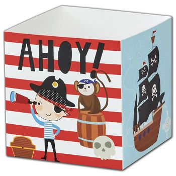 Pirate Party Favor Gift Boxes, 3 3/4 x 3 3/4 x 3 3/4