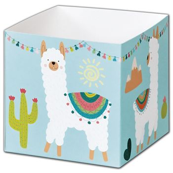 Party Llama Party Favor Gift Boxes, 3 3/4 x 3 3/4 x 3 3/4