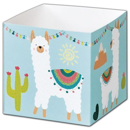 """Party Llama Party Favor Gift Boxes, 3 3/4 x 3 3/4 x 3 3/4"""""""