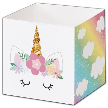 "Pastel Unicorn Favor Gift Boxes, 3 3/4 x 3 3/4 x 3 3/4"""