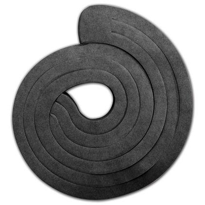 "Black Spiro Pack, 3 Swirls Connected, 15"" Long"
