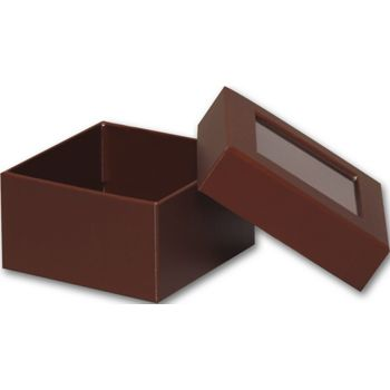 Chocolate Rigid Gourmet Window Boxes, Small