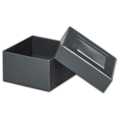 Graphite Metallic Rigid Gourmet Window Boxes, Small
