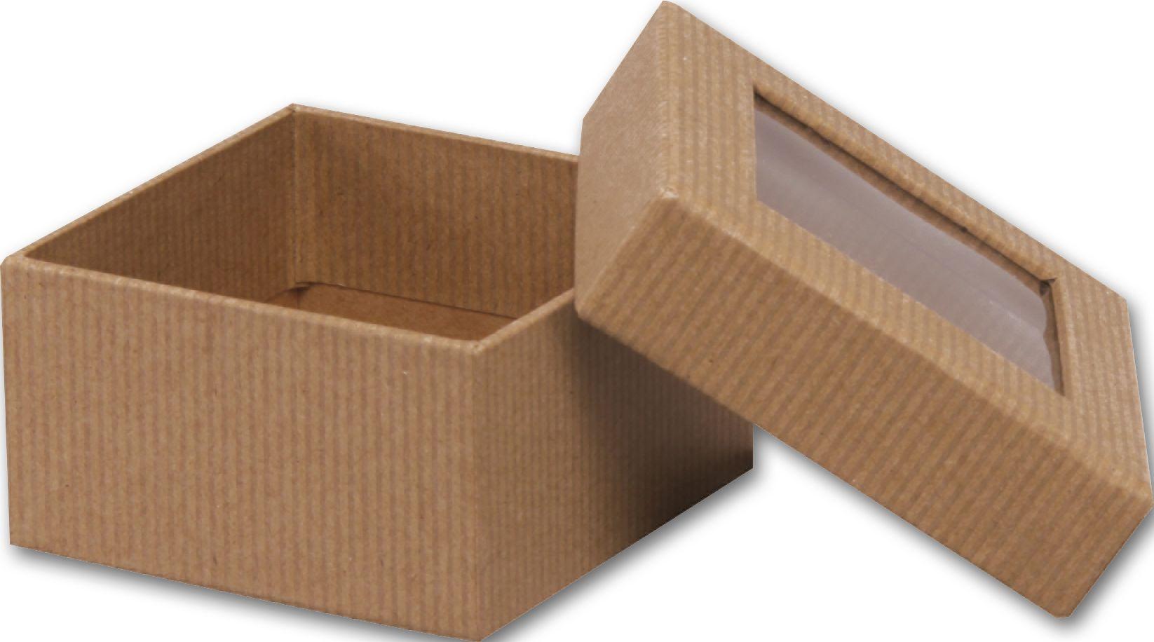 Small Kraft Rigid Gourmet Window Box-Srgw-Kft | Bags & Bows