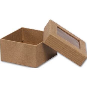 Kraft Rigid Gourmet Window Boxes, Small