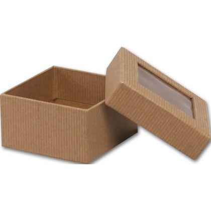 Kraft Rigid Gourmet Window Boxes, Small