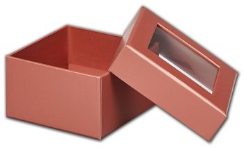 Rose Gold Metallic Rigid Gourmet Window Boxes, Small