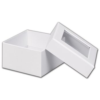White Rigid Gourmet Window Boxes, Small
